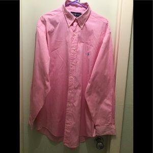 Ralph Lauren Classic Fit Pink Oxford Mens Shirt